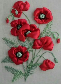 Wonderful Ribbon Embroidery Flowers by Hand Ideas. Enchanting Ribbon Embroidery Flowers by Hand Ideas. Embroidery Designs, Ribbon Embroidery Tutorial, Silk Ribbon Embroidery, Hand Embroidery, Embroidery Supplies, Embroidery Stitches, Embroidery Books, Embroidery Tattoo, Mexican Embroidery