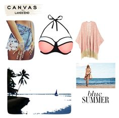 """""""Summer time :D"""" by eldina-salihovic ❤ liked on Polyvore featuring Melissa McCarthy Seven7, New Look, Lands' End and plus size clothing"""