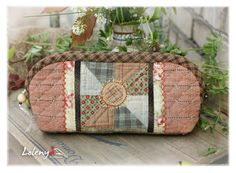 purse and cosmetics bag - Japanese patchwork