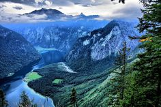 the Königssee (lake located in the extreme southeast Berchtesgadener Land district of the German state of Bavaria, near the border with Austria)