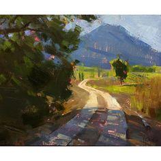 Jennifer McChristian, 'Vineyard Path' oil, 8x10, inches