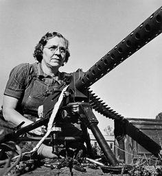 American woman in the war effort - WW II 1943 (by W. Eugene Smith) ~