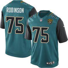 Youth Nike Jacksonville Jaguars  75 Cam Robinson Limited Teal Green Team  Color NFL Jersey Stefon 8df14386d