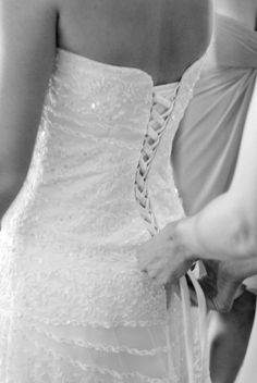 lace-up back wedding dress