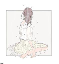 透ける春 (Through the spring) by Anime Art Girl, Manga Art, Aesthetic Art, Aesthetic Anime, Character Art, Character Design, Awesome Anime, Cute Illustration, Art Sketchbook