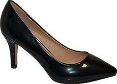 Damen Pumps Spitze High Heels Stiletto Lack - http://on-line-kaufen.de/elara/damen-pumps-spitze-high-heels-stiletto-lack