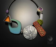 """Bettina Welker's, Sampler Necklace, """"a necklace where each bead features one of my recent techniques."""""""