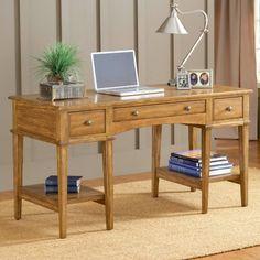 Hillsdale Gresham Desk - Medium Oak - Writing Desks at Hayneedle