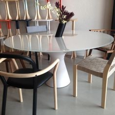 Zanotta dining table, Porro, Artek Chairs