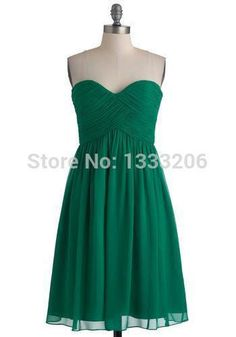 Free Shipping 2013 New Arrival Sexy Pleated Sweetheart Chiffon A line Short Emerald Green Evening Dress Party Gowns-in Evening Dresses from Weddings & Events on Aliexpress.com | Alibaba Group