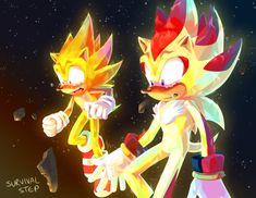 """survivalstep: """"If you don't defeat the Biolizard within 5 minutes the Space Colony ARK's course is irreversible and it crashes into the planet Just some food for thought """" Shadow The Hedgehog, Sonic The Hedgehog, Silver The Hedgehog, Sonic Boom, Super Shadow, Sonic Funny, Sonic Franchise, Sonic Heroes, Sonic Fan Characters"""