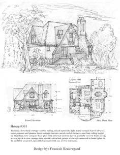 A Very Compact Design For A Storybook Cottage, An American Housing Style  Prevalent In The To House 301 Storybook Cottage