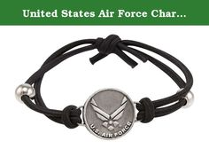 """United States Air Force Charm Adjustable Bracelet. This beautiful Adjustable Bracelet will make a great addition to your jewelry collection or a great gift for a military family and friends! This wonderful bracelet has a Air Force charm that measures .75"""" and has """"U.S. Air Force"""" stamped on the back of charm. Official Licensed Product of the United States Air Force."""
