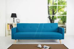 Lyon Blue Sofa Bed - Furniture Online
