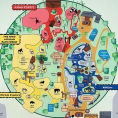 Zoo Atlanta map