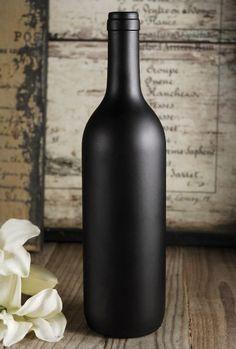 Chalkboard Bottle 11.5in Chalkboard Wine Bottles, Painted Wine Bottles, Diy Chalkboard, Bottles And Jars, Glass Jars, Bridal Shower Decorations, Wedding Decorations, Wedding Ideas, Wedding Crafts