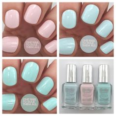 One Nail To Rule Them All: Barry M Spring 2014 Gelly Hi Shine Collection Swatches. Pastel shades.