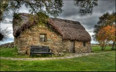 Cottage on the Culloden battlefield - Inverness, Scotland