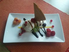 Icecream with bio fruit #homegarden