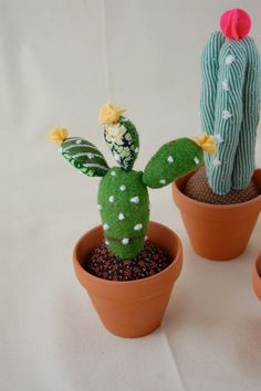 Yellow Flower Cactus by sian on Etsy