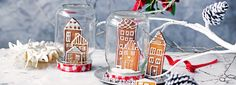Gingerbread Snow Globes