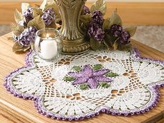Passionflower Beaded Doily ~ like a large beaded flower ~ beads carried through the dainty picot edge ~ size is in diameter ~ intermediate level ~ CROCHET Crochet Dollies, Crochet Doily Patterns, Crochet Motif, Irish Crochet, Flower Patterns, Afghan Crochet, Crochet Ideas, Knit Crochet, Beaded Flowers