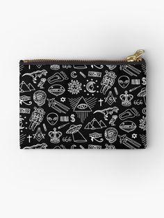 Illuminati pattern Pochette Big Bags, Reusable Bags, Illuminati, Graphic, Zipper Pouch, Pouches, Zip Around Wallet, Pencil, Embroidery