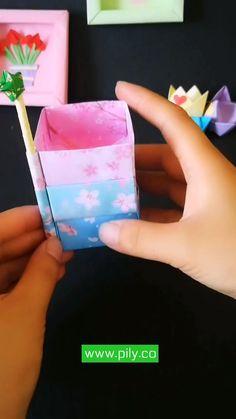 Diy Crafts For Gifts, Paper Crafts For Kids, Diy Arts And Crafts, Fun Crafts, Instruções Origami, Paper Crafts Origami, Origami Tutorial, Anime, Ideas