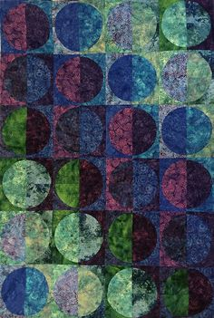 Moon Shadow: quilt by Karla Alexander.  2016 Quilt workshop.