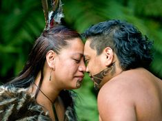 Maoris greet each other by pressing their noses together.
