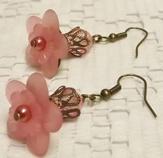 Shabby Chic Pink Vintage Style Lucite Flower by LoveBugsJewelry, $7.99