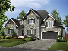 072H-0175: Multi-Generational House Plan Offers First Floor In-Law Suite