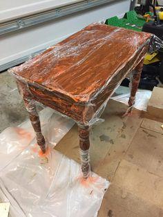 Restoring Veneer on an Antique Table Top