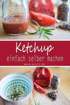 Ketchup selber machen ohne Zucker Making ketchup itself pays off several times. If you prepare your ketchup recipe yourself, you will save a lot of sugar and artificial additives. We'll show you how to prepare your barbecue sauce. Curry Ketchup, Pizza Hut, Barbacoa, Beer Barbecue Sauce Recipe, Pork Barbecue, Bbq Ribs, Low Carb Ketchup, Vegan Fast Food, Pulled Pork Recipes