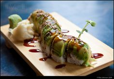Sushi - Caterpillar Roll (Eel, Avocado, Cucumber) - YUM