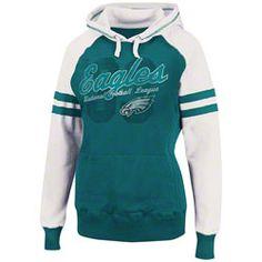 Women's Philadelphia Eagles Majestic Midnight Green Touchdown Queen T-Shirt