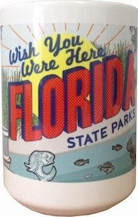 Commemorate your love for camping with this 15oz custom mug. Perfect for morning campfires. Florida State Parks ceramic mug | Florida State Parks