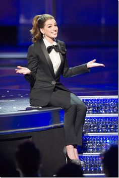 Anne Hathaway in Lanvin @ Oscars 2011. & just women in tuxedos in general.