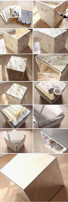 Divin'iD le blog déco: Chevet cube Miroir - Mirror Bedside Table