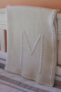 Crocheted Monogram Baby Blanket by PetitLambie on Etsy, $70.00
