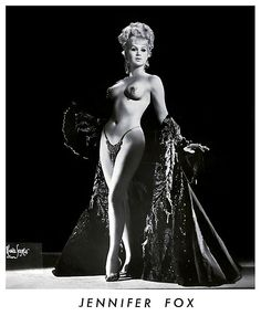 """V022 Jennifer Fox aka. """"The Myra Breckinridge of Burlesque"""".. """"Isn't He or Isn't She?"""" was the byline Ms. Fox used in many of her newspaper promo ads.. Because in 1968, she was still a man waiting to undergo sex reassignment surgery! By the early 70's, Jennifer would employ """"America's Foremost Sex-Change"""" in all of her promotional material.. She was represented by the 'Jess Mack Agency'; operating out of Las Vegas, Nevada.."""