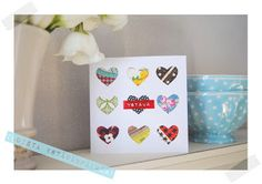 Valentine's card  kaksneljaseitteman.blogspot.fi