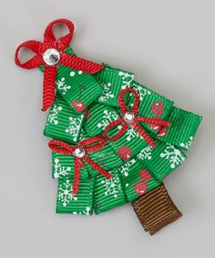 Take a look at this Red & Green Snowflake Holiday Tree Clip by The Hair Candy Store on #zulily today!