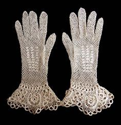 lace gloves knitted - Google Search