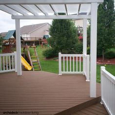Every component of this deck was designed with low maintenance materials: terrific for parents and kids alike!