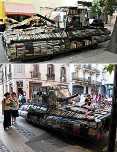 War Tank Library - In Argentina this work of art and lending library reminds us that peace is the better option.