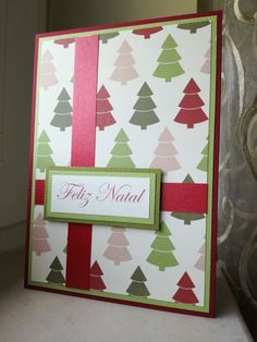 I used Kaisercraft Silent Night collection for this Christmas card.