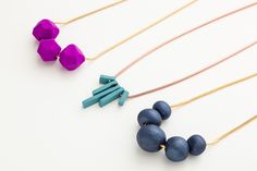 Yep, these chic clay necklaces are totally DIY.