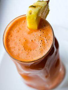 Pineapple-Celery-Carrot-Ginger juice..sounds deelish.