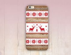 Christmas Wood Print Phone Case   iPhone 6 Case  iPhone by CRCases